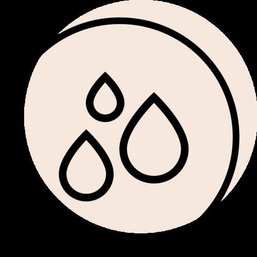 rundes schwarzes Icon mit dem Symbol für Haarfarbe