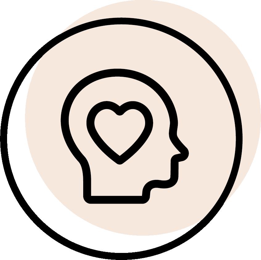 rundes schwarzes Icon mit dem Symbol für Philosophie
